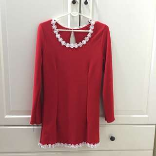 Modern Traditional Red Blouse