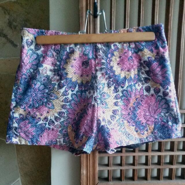 Floral Printed High Waisted Shorts