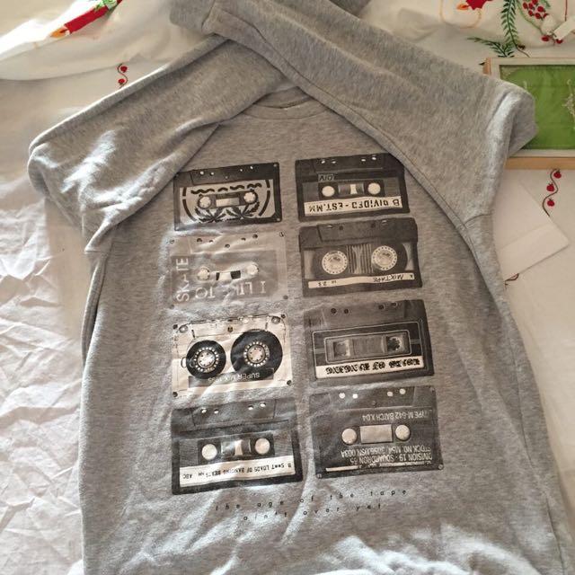 H&M Mixtape Grey Pullover (Unisex)