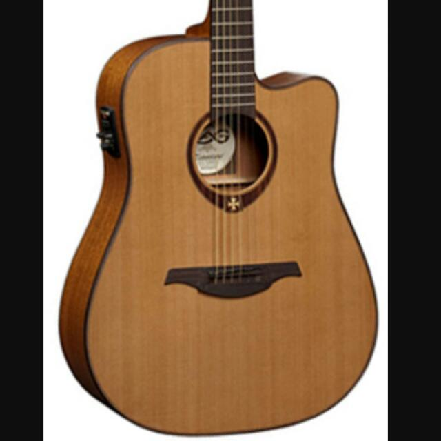 Lag Tramontane T200DCE Dreadnought Cutaway Acoustic Electric Guitar