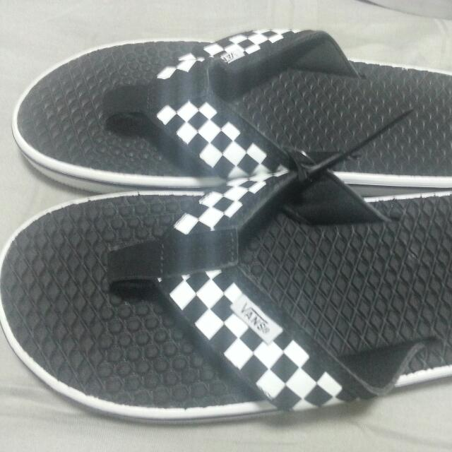 358f7215d8 Vans Slippers Checkered Black And White