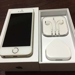 iPhone 5s 16gb. Gold. Perfect Condition. (Price Reduced, No Nego)