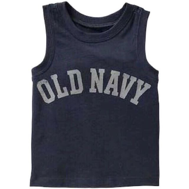BN Size 2T, 3T, 4T Old Navy Blue Logo Jersey Tank Top/Tee For Kid Boy - Pkoldnavy Pkboy