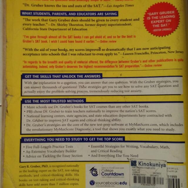 Gary Gruber Complete SAT Guide 2014