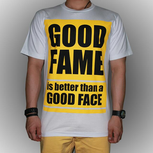 Good Fame Good Face Graphic T Shirt Men S Fashion On Carousell