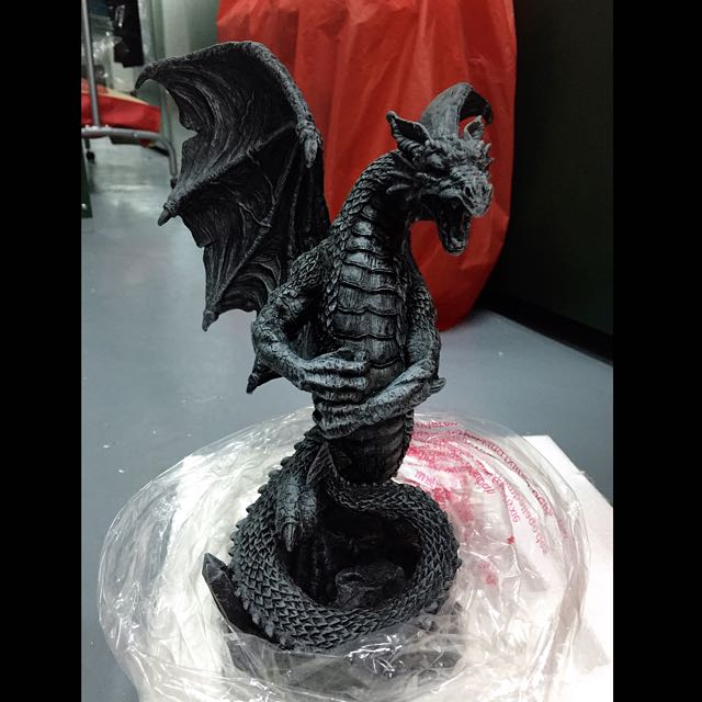 Gothic Dragon Figurine With Letter Opener