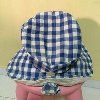 Blue/White Checked Hat