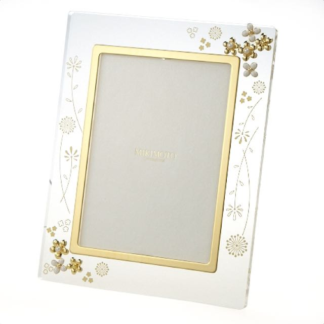 Reserved] BNIB Mikimoto Authentic Pearl Gold Acrylic Photo Frame ...