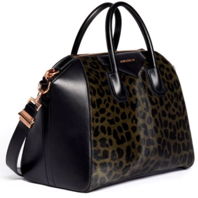 5baeadc333 100% Authentic Givenchy Antigona Calf Hair Leopard Print