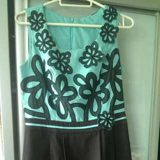 Elegant Office Dress with flowers