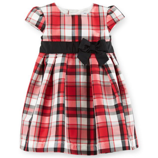 BN Size 24m Carter's Taffeta Plaid Dress For Kid Girl - Pkcarters Pkgirl