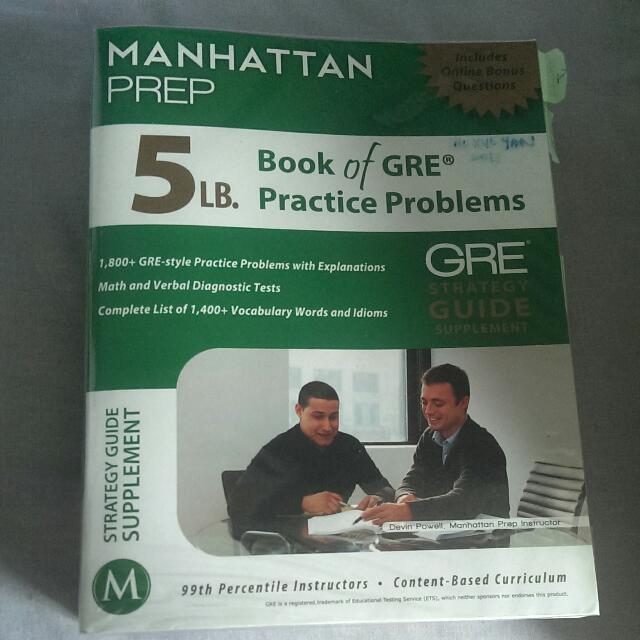 Manhattan Prep 5lb. Book of GRE Practice Problems