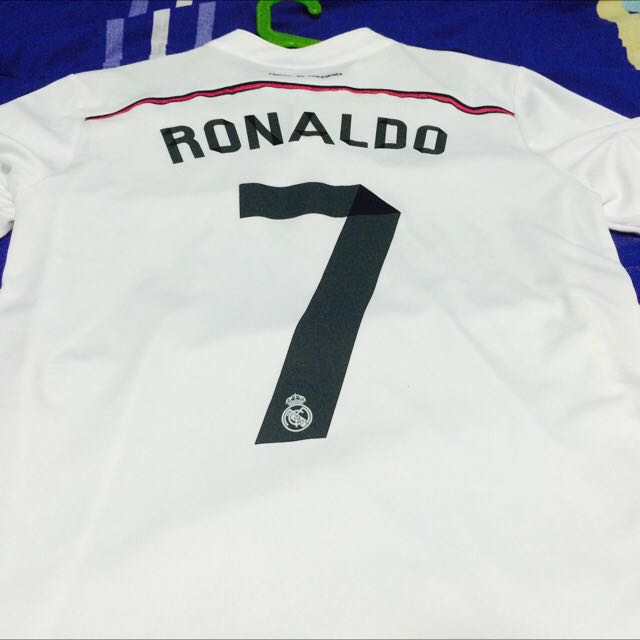 d8fe67fc4 Real Madrid 14 15 Home Kit With Ronaldo 7 Printing