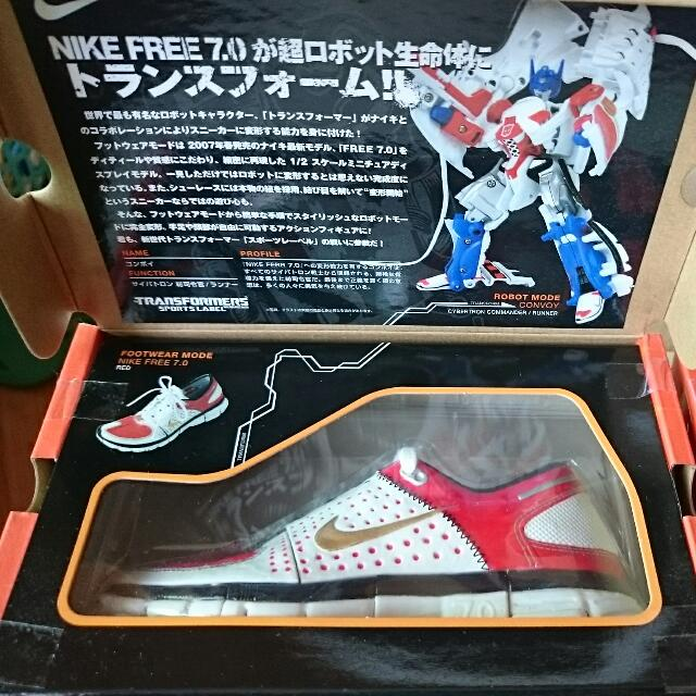 c4f1b7598867e Transformers Takara Tomy Sport Label Convoy Optimus Prime and Megatron  featuring Nike Free 7.0 Set