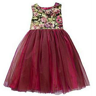 (SPECIAL OFFER) - BNWT- Laura Ashley London -  Floral-Brocade-Bodice Tulle-Skirted Dress - Size 2T