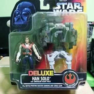 Kenner Star Wars Deluxe Han Solo with Smuggler Flight Pack
