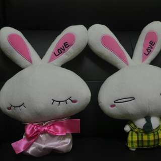Toys Rabbit Bear  Pair