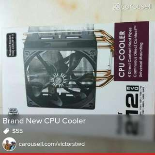 Hyper 212 Cpu Fan New With Seal