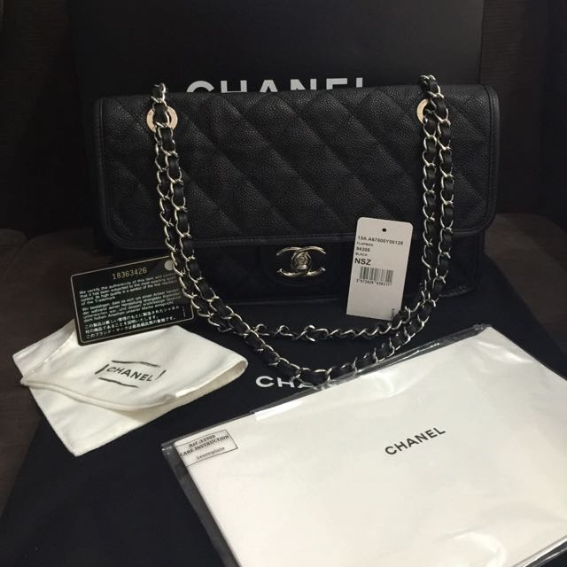 48d047c84f Chanel french riviera jumbo Flap With Shw, Luxury, Bags & Wallets on  Carousell