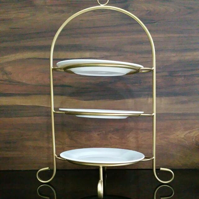 Vintage 3 Tier Serving Tray Furniture On Carousell