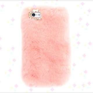 iPhone 6plus 兔毛手機殼