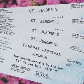 One Ticket To laneway Festival 2015
