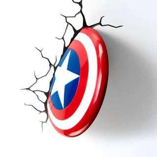 BNIB Captain America 3D deco / night light