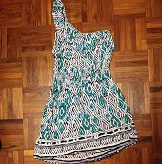 F21 Aztec Toga Dress