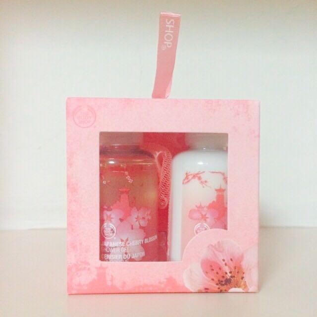 The Body Shop Japanese Cherry Blossom Shower Gel & Body Lotion Gift Set