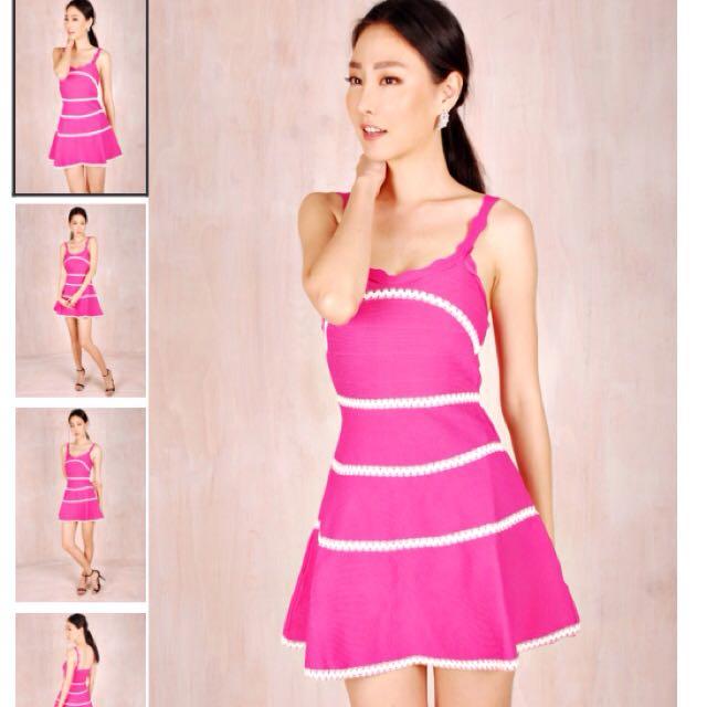 c31d1c5d9497 BNIB Theory Of Seven Athena Flirty Pink Dress