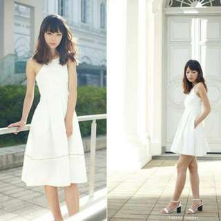 Threadtheory I Can Transform You Convertible Dress In White In Size S