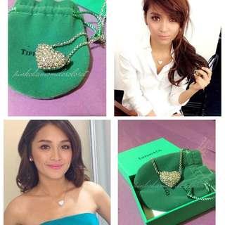 Tiffany & Co. Swarovski Encrusted Heart Pendant Necklace