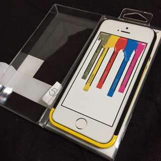 INSTOCKS: BNIP iPhone5/5s Yellow Casing/Bumper with Front & Back Screen Protector