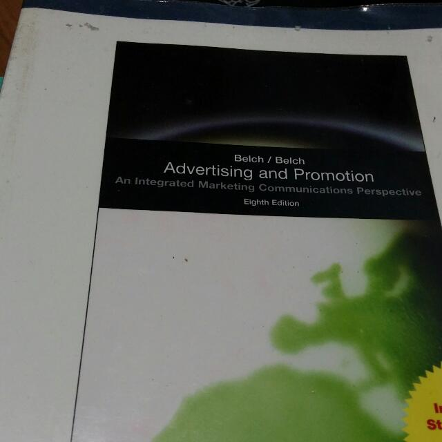 Reserved Advertising And Promotion An Integrated Marketing Communications Perspective