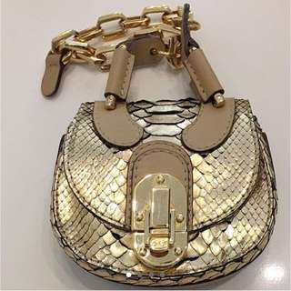 Chloe Python Skin Chain Mini Evening Bag, Bought $2400 Now $480 Nett, Slight Chip On Opening Catch, No Trade