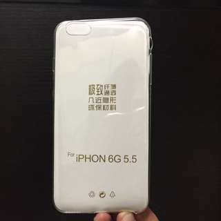 Iphone 6+ Transparent Thin Rubber Cover