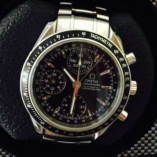 OMEGA : Very Handsome Omega Speedmaster (Day Date Month) Watch