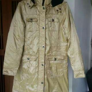 Gold Winter Jacket /outer Coat