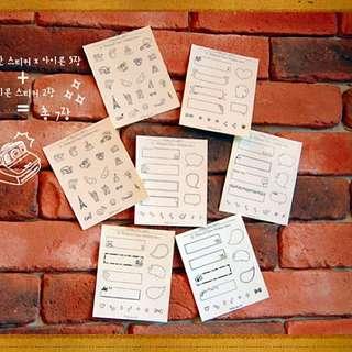 Set Of Polaroid Stickers