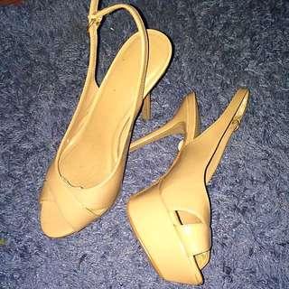 Size 7.5 Mango Nude Stilettos