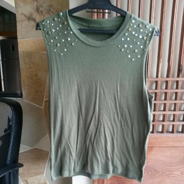 F21 Studded Muscle Tank