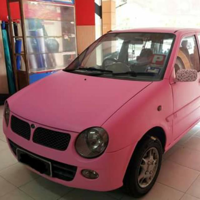 Full Car Wrapping Of Matt Light Pink With Hello Kitty Water Transfer