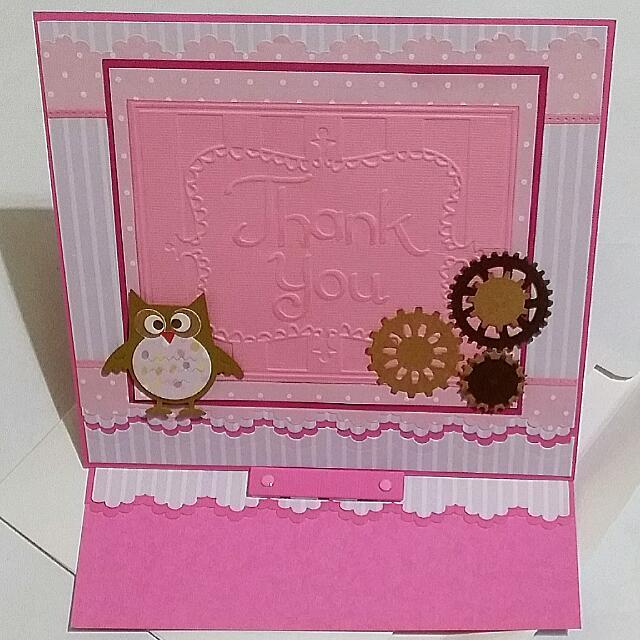 Handmade Thank You Easel Card Big Size Teacher S Day Farewell