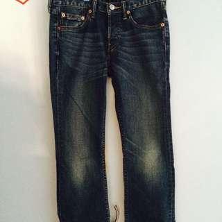 Ladies Blue Straight Cut Levis Button Jean