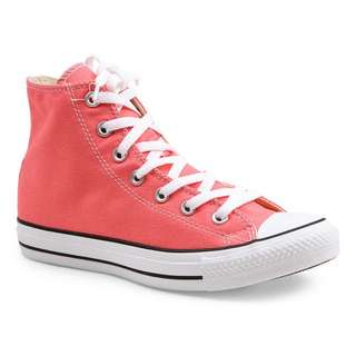 high cut peach pink converse shoe