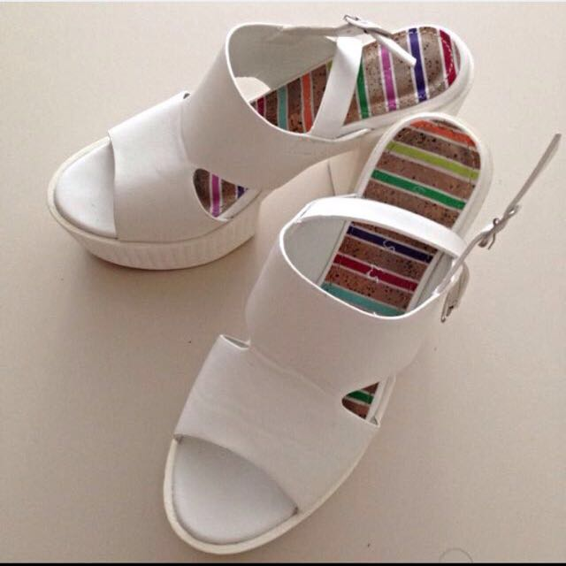 Sale! White Casual Platform