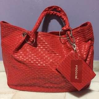INSTOCKS: BNWT Poccilini Red Handbag