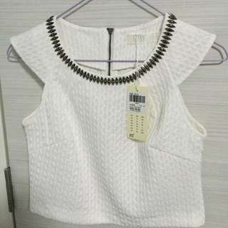 BYSI Cropped White Top