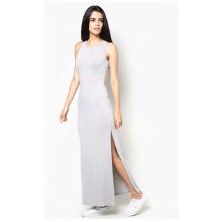 BN River Island Grey Racer Back Maxi Dress