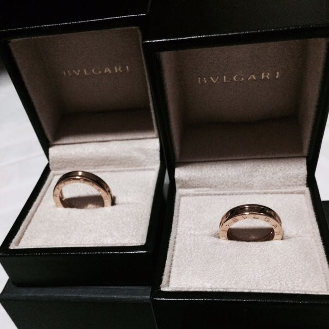 Authentic Bvlgari Couple Wedding Ring Never Worn Luxury On Carousell